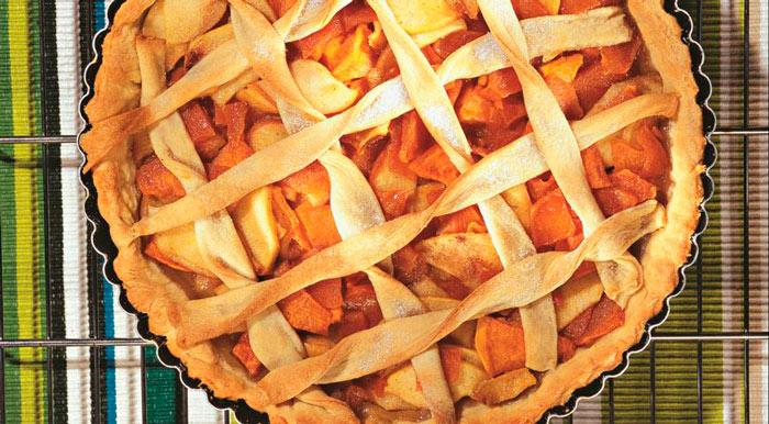 Простой рецепт пирога с тыквой и яблоками