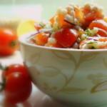 Салат с перловкой и помидорами,