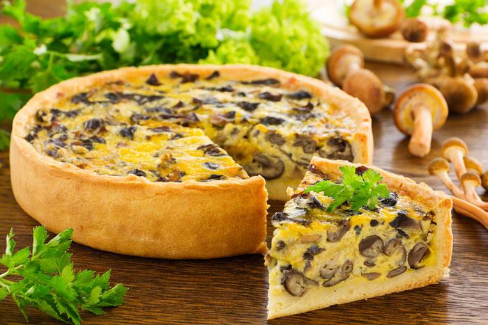 Пирог с грибами и картошкой фото