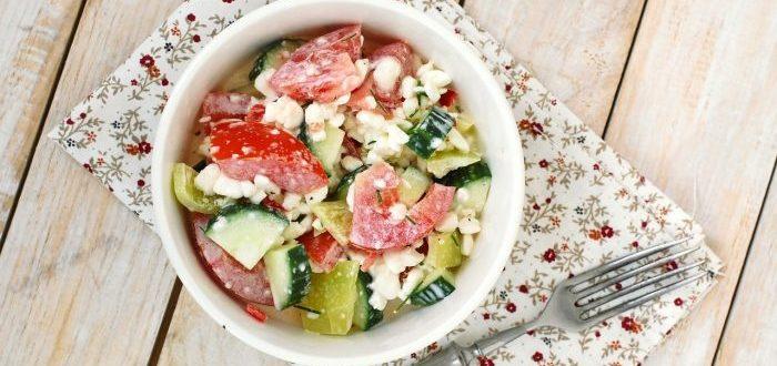 Вкусные салаты с творогом
