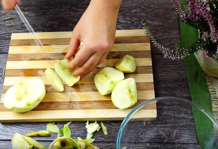 Творожные рогалики с яблоками