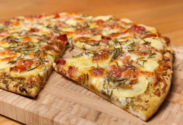 Постная картофельная пицца