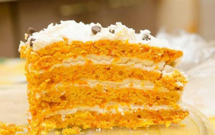 Морковный торт для худеющих