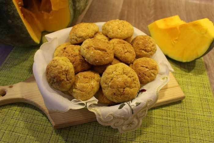Тыквенное печенье из овсяной каши