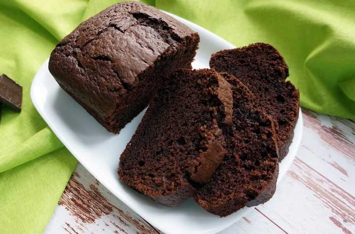 Шоколадный творожный кекс