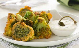 Пошаговый рецепт приготовления брокколи в кляре на сковороде