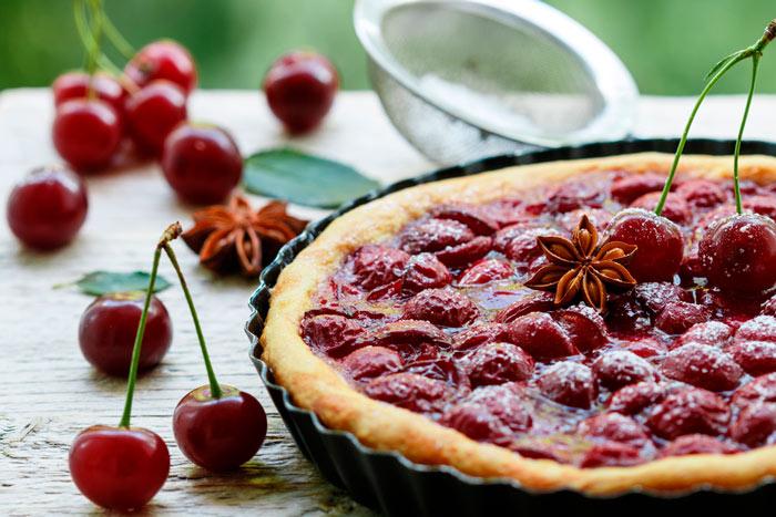 Как приготовить пирог из вишни фото