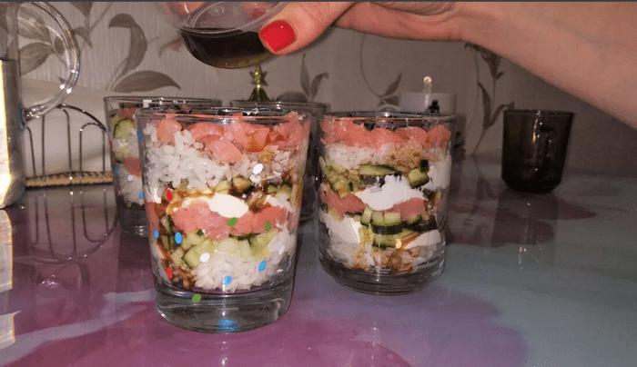 Рецепты салатов в стакане: красиво, вкусно, оригинально
