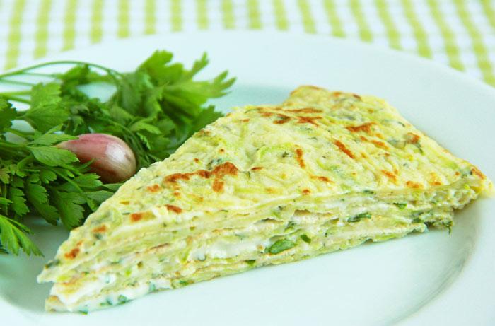 кабачковый пирог с зеленью