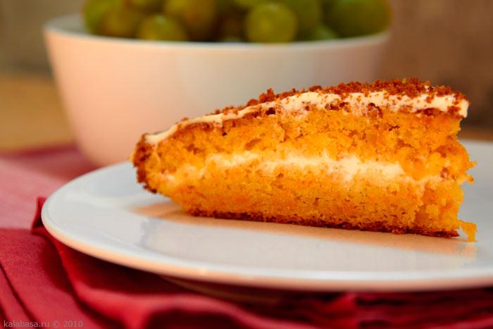 Морковный пирог от Юлии Высоцкой