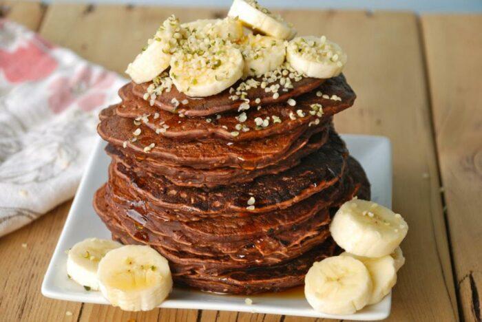 Бананово-шоколадный овсяноблин
