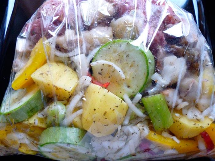 Овощи запеченные в духовке Рецепт в рукаве