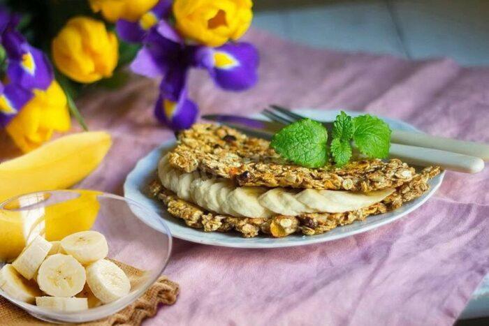 Банановые овсяные блины