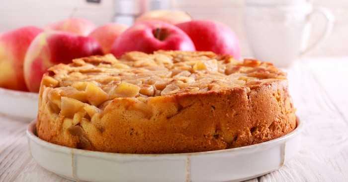 Французский перевернутый пирог с яблоками