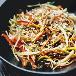 Как приготовить рисовую лапшу с овощами