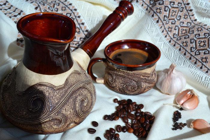 Рецепт кофе с медом и чесноком
