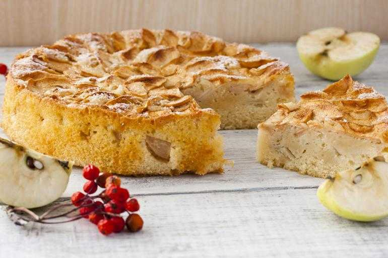 Рецепты творожного пирога с яблоками