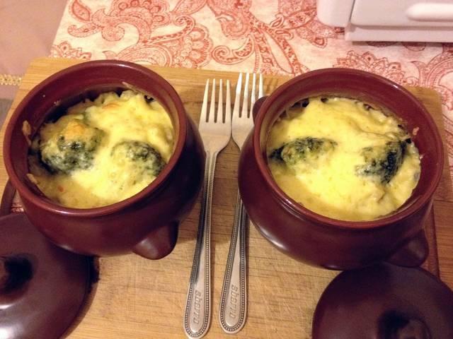 Как готовить картошку в горшочках Жаркое с брокколи