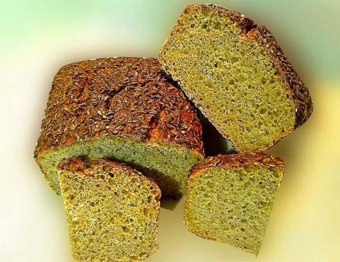 Веганский хлеб из зеленой гречки