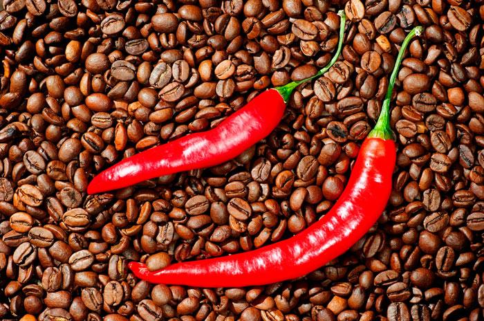 Кофе с использованиемкрасного перца