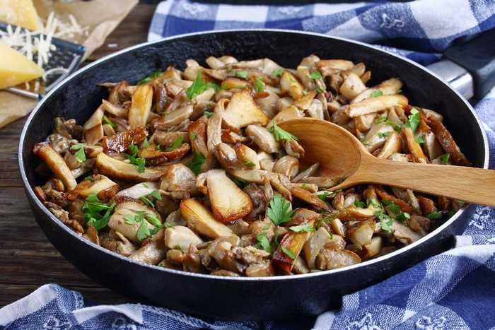 Жареные грибы с овощами на зиму без стерилизации