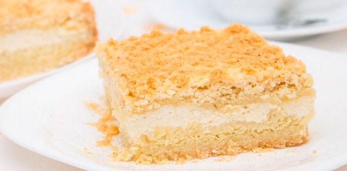 Как приготовить насыпной пирог с творогом фото