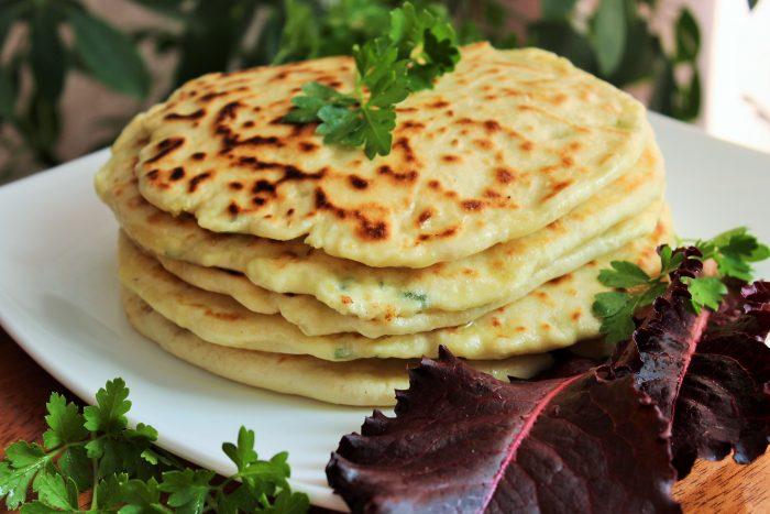 Рецепт с зеленью и с творогом на кефире