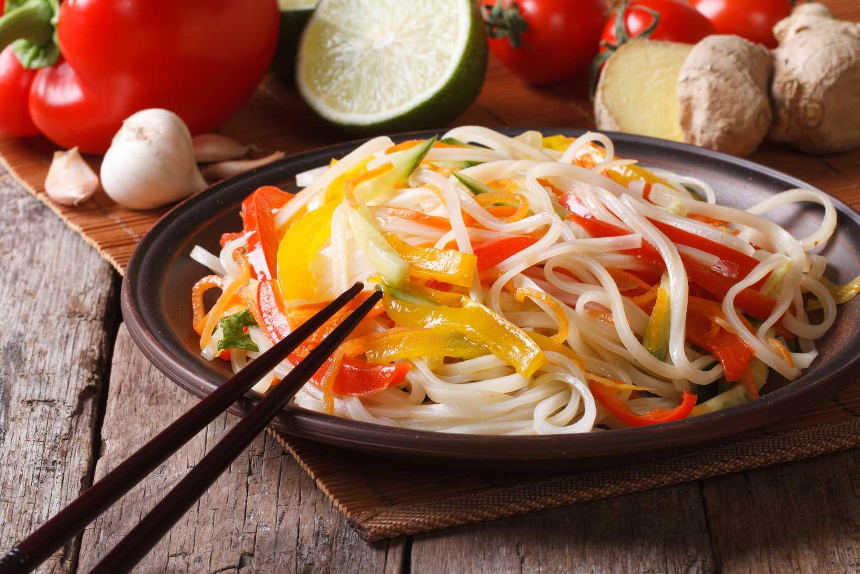 Блюда из китайской лапши