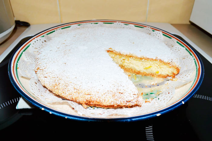 Пирог с творогом в мультиварке рецепт фото