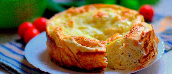 Сырный пирог из лаваша фото