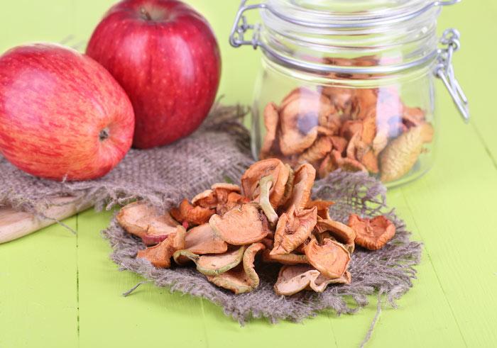 Хранение сухих яблок