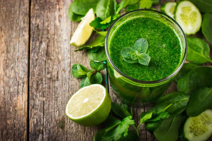 Зеленые смузи для похудения фото