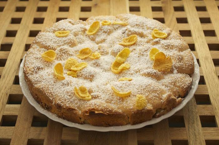 Диетический яблочный пирог на сметане