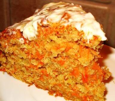 Кекс с морковью