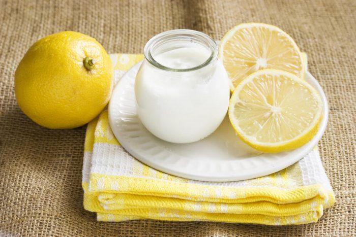 Кефир с лимоном