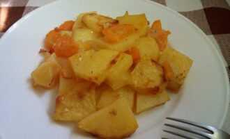 Жареный картофель в рукаве