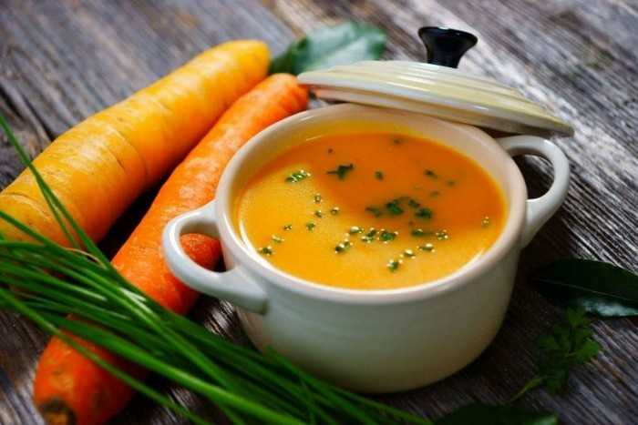 Морковно-сырный суп – пюре