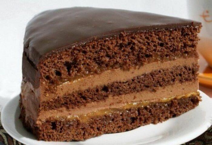 """торт """"Прага"""" с кофе"""
