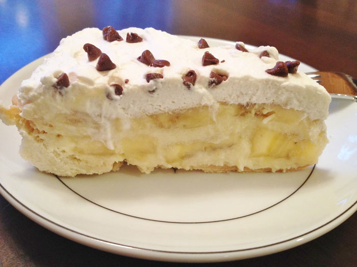 Быстрый пирог со сладким сыром и бананом