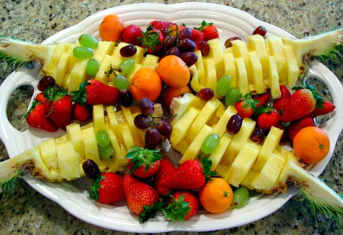 Как сделать нарезку из фруктов и овощей