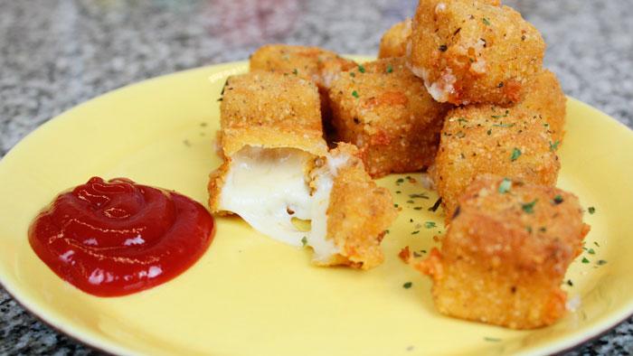 Жареный сыр с начинкой