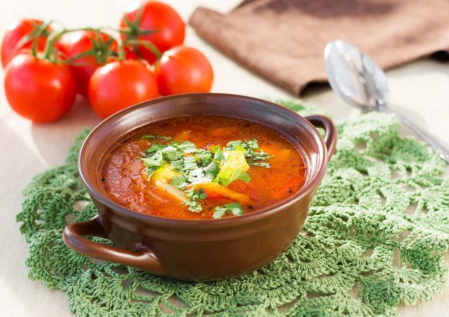 вегетарианский Суп харчо