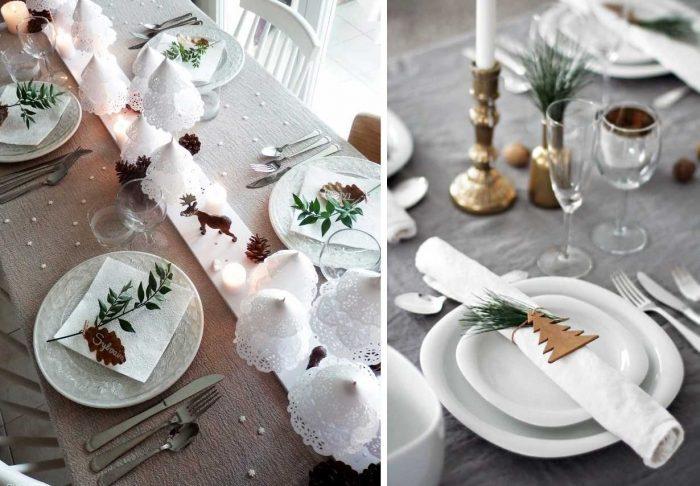 Украшение тарелок гостей: идеи