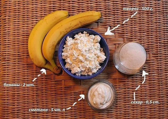 Легкий банановый пирог