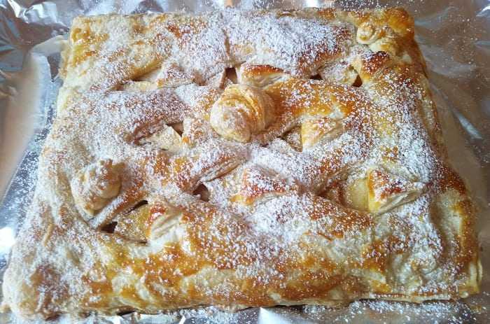 Рецепт слоеного яблочного пирога