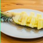Как подать ананас I Как поделить ананас