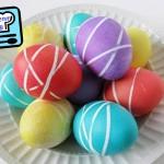 Как покрасить яйца нитками на Пасху?