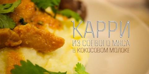 Карри из соевого мяса в кокосовом молоке I Как приготовить соевое мясо