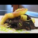 Картофель с солеными грибами видео рецепт