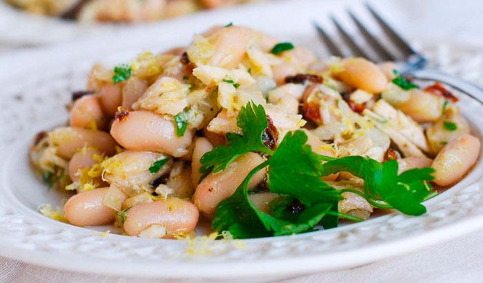 Вкусные салаты из фасоли с грибами фото